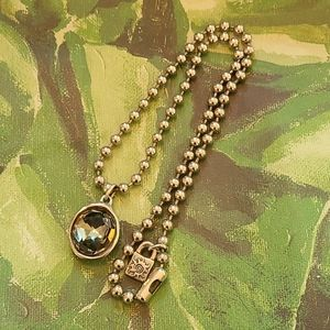 UNO de 50 Snowflake Crystal Pendant Necklace